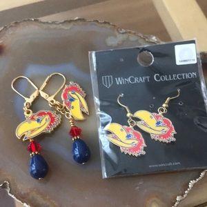 Kansas Jayhawks earring bundle
